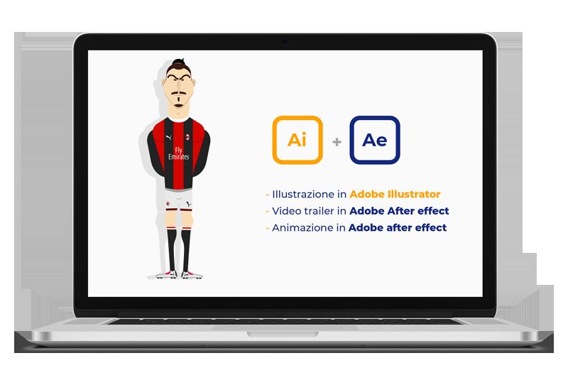illustrazione e video Ibrahimovic