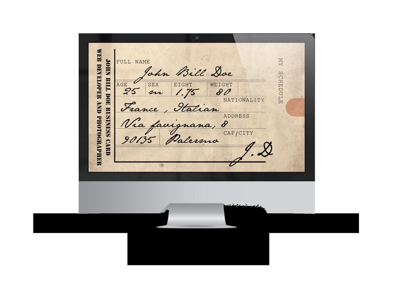 business card descrizione