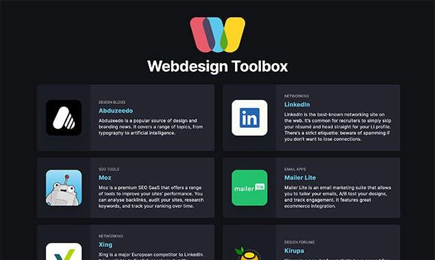 web designer toolbox