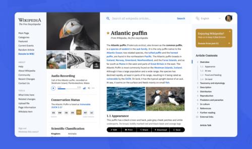 Wikipedia e la sua nuova veste grafica