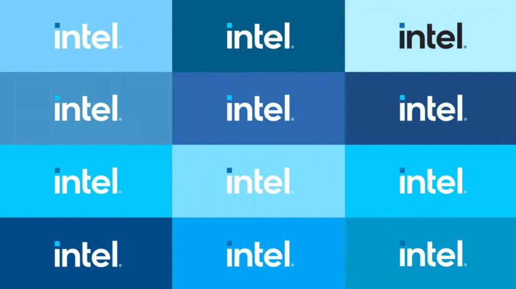 il nuovo logo di intel