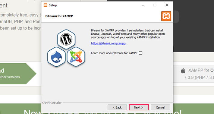 installare wordpres locale - xampp bitnami skip