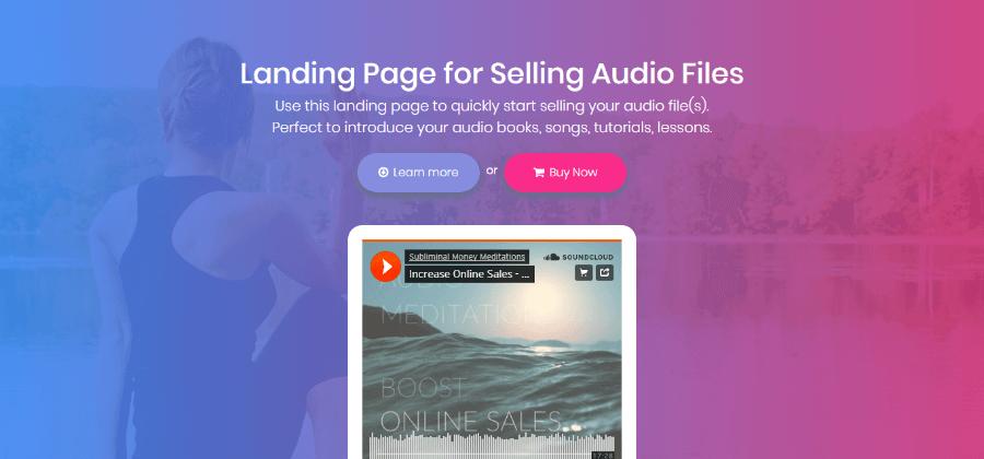 landing page per audio files