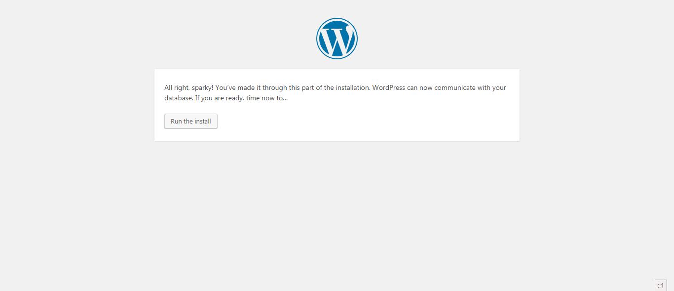 installare wordpress in locale -  all right