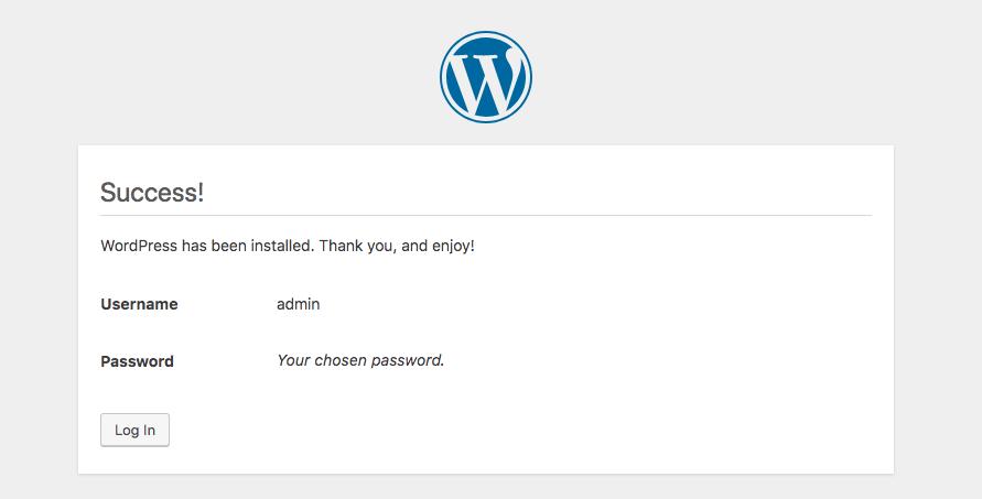 installare wordpress su hosting web - login