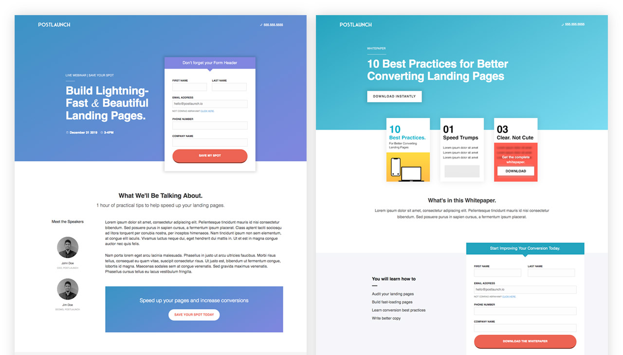 differenza tra landing page