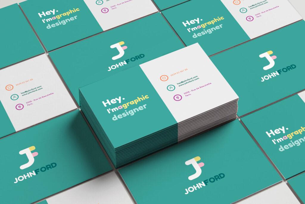 biglietto da visita pacchetto graphic design base
