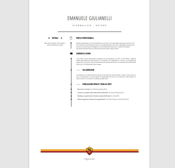 roma ha vinto - curriculum emanuele giulianelli