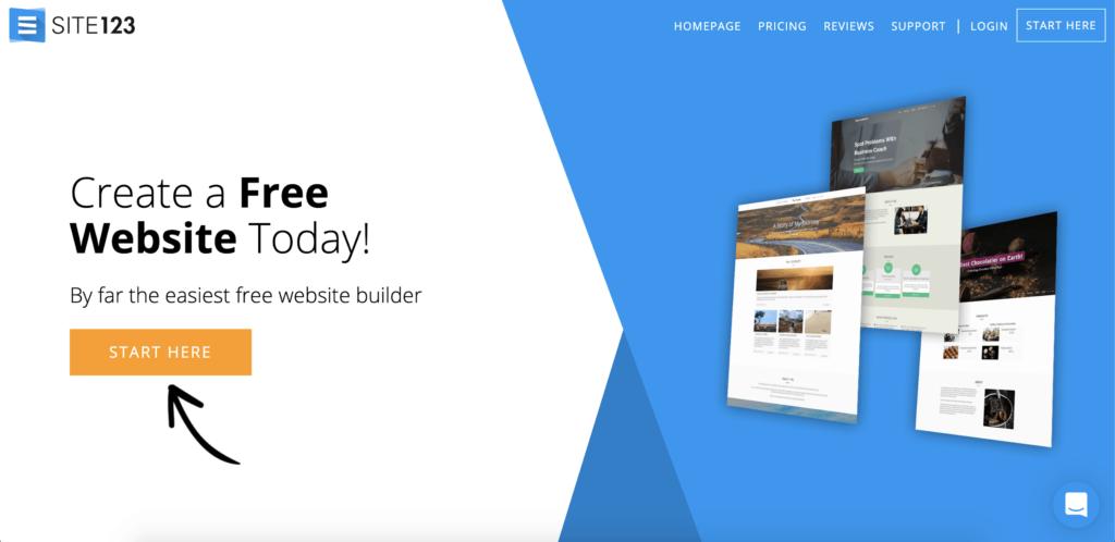 come creare un sito web con site123