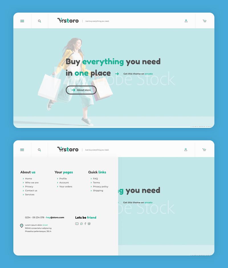 pacchetto sito web base esempio