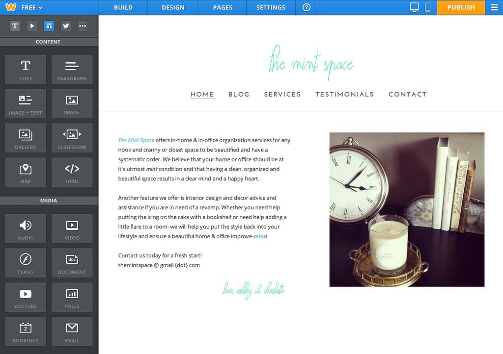 come creare un sito web con weebly