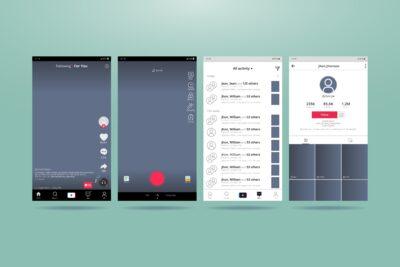 UI e UX design - tiktok