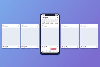 UI e UX design - instagram