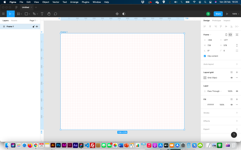 creare icone - figma griglia
