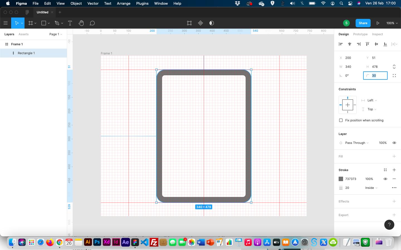creare icone - arrotondare bordi figma