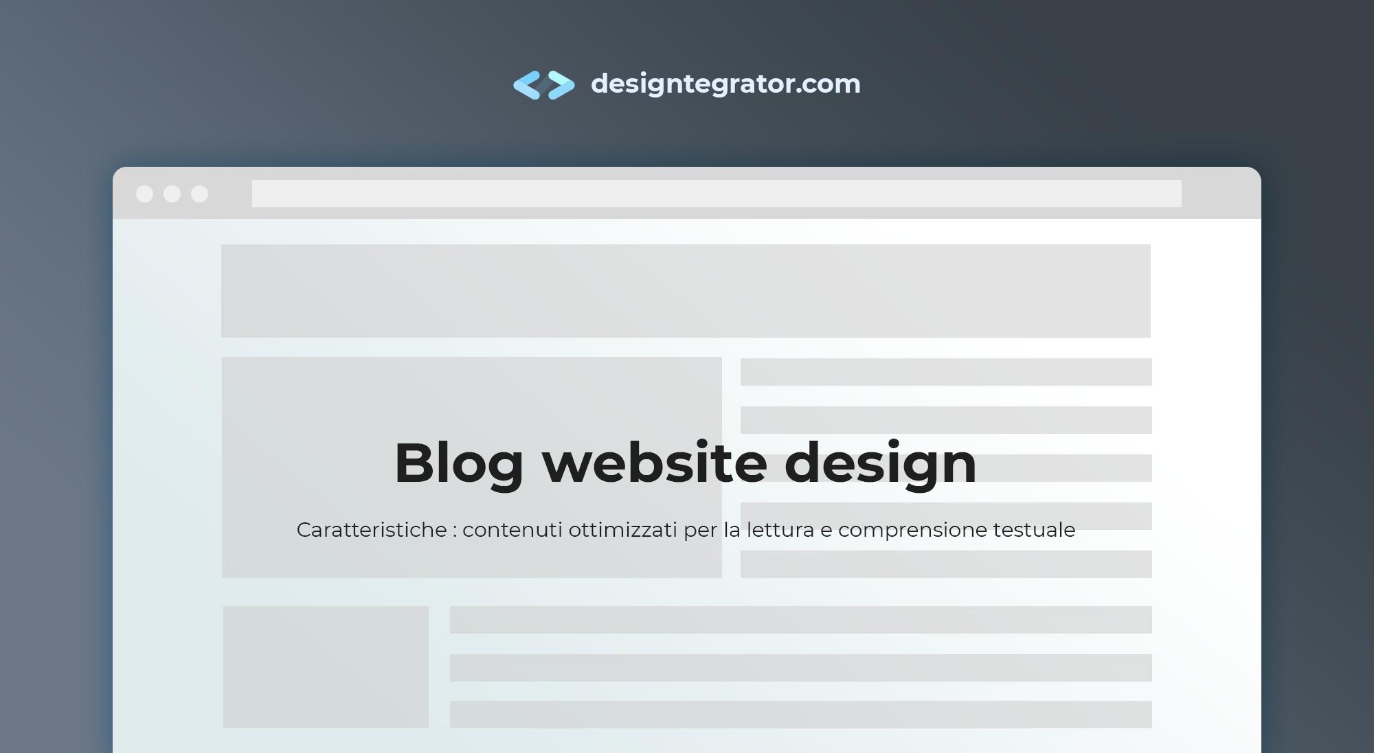 creare un sito web stile blog