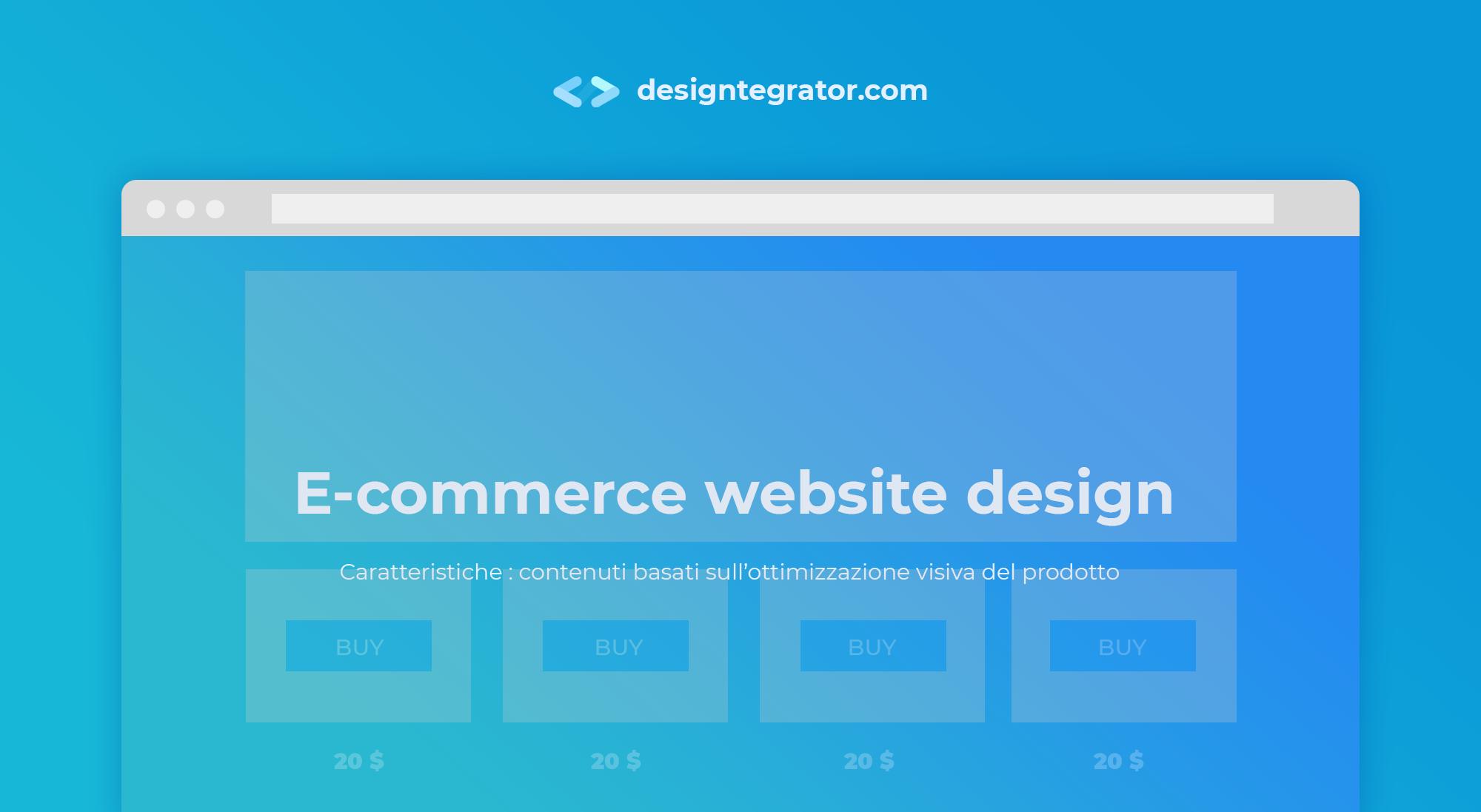 creare un sito web - stile e-commerce