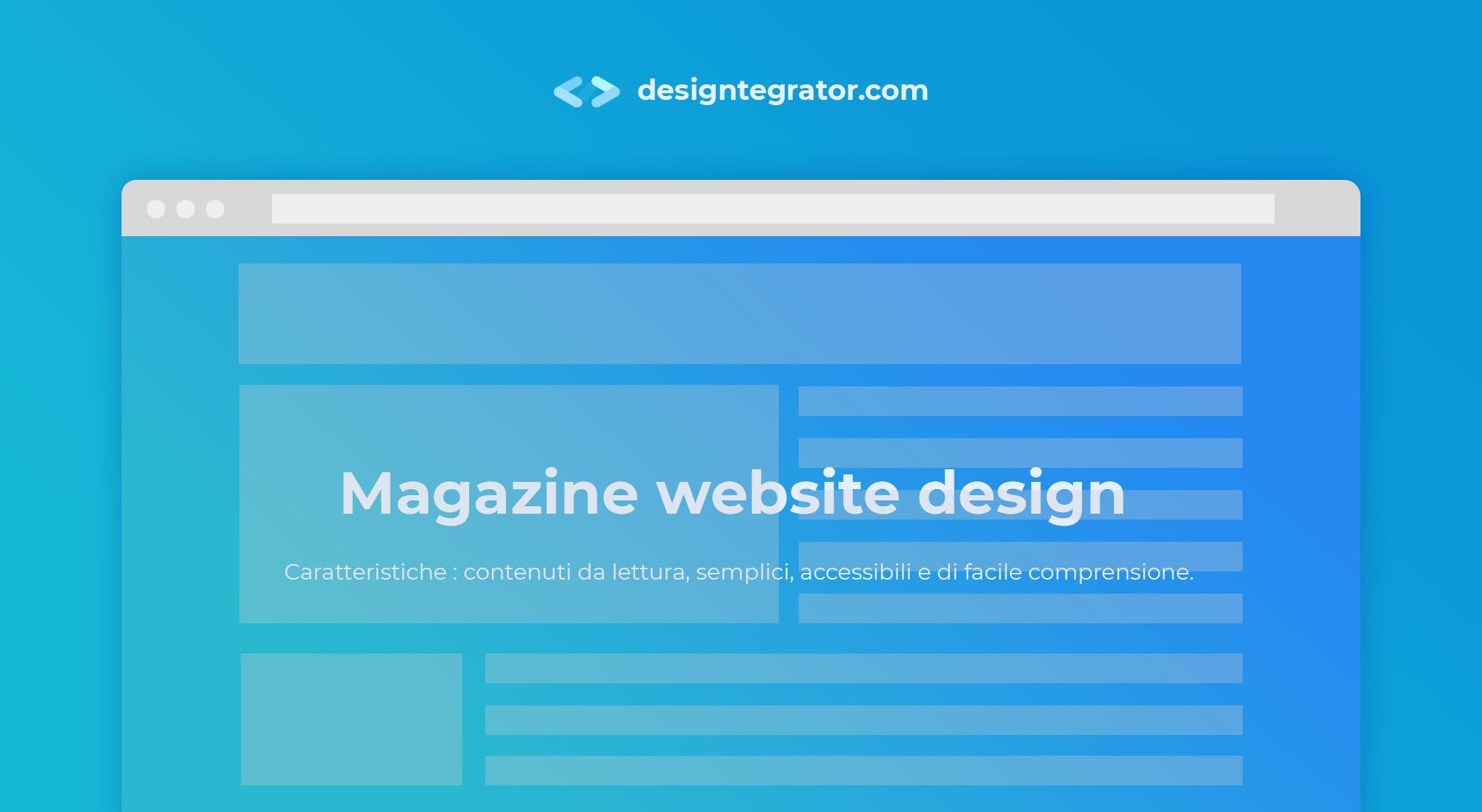 creare un sito web stile magazine