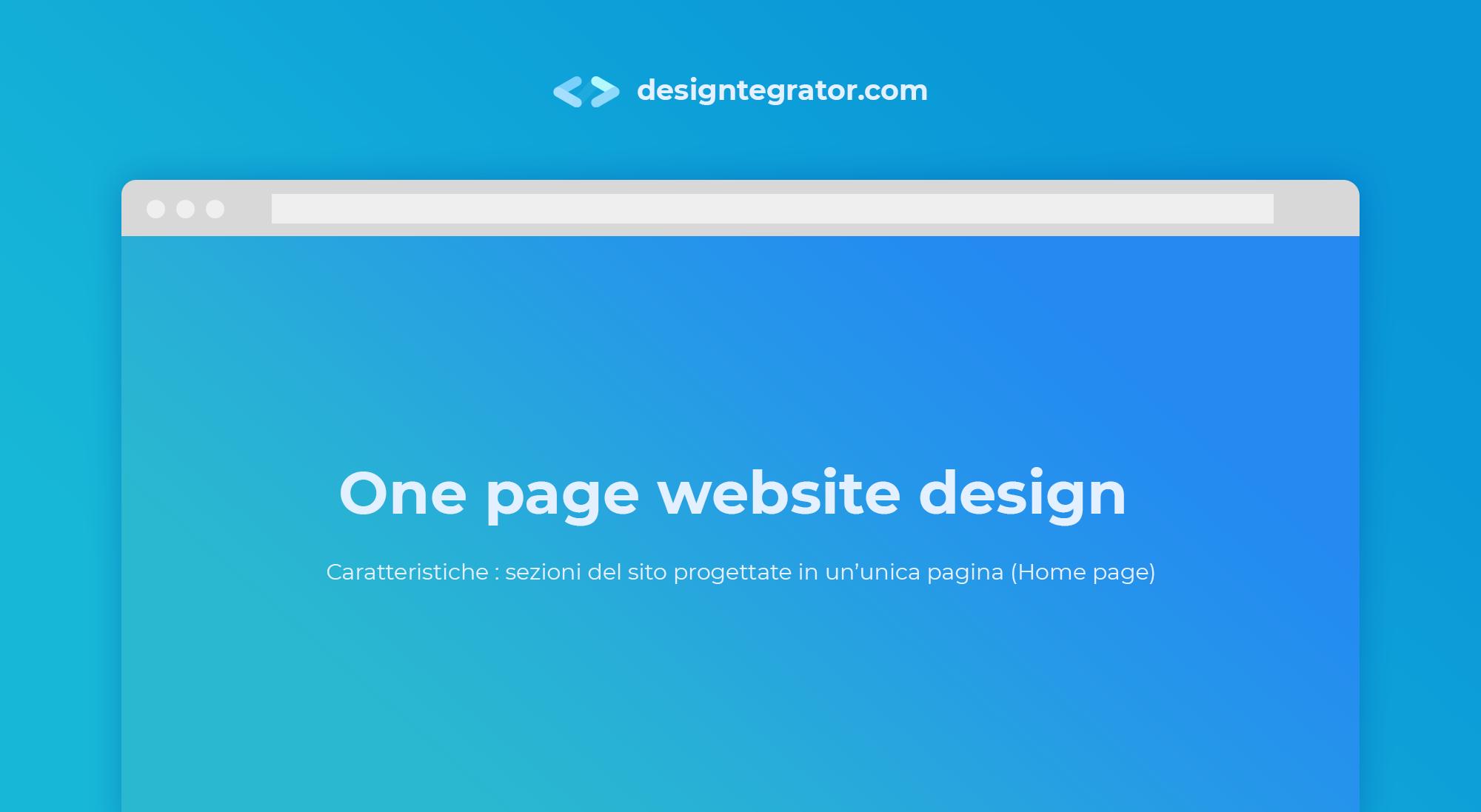 creare un sito web stile one-page