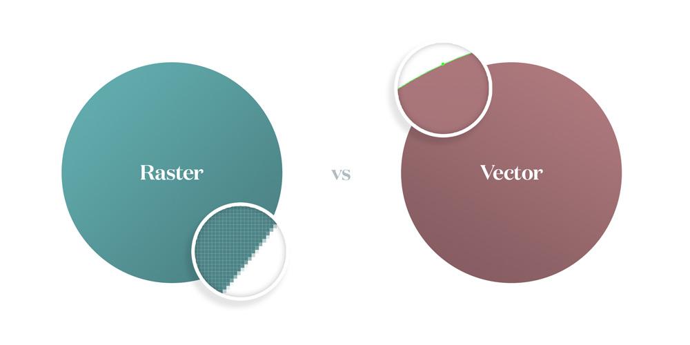 immagini vettoriali vs raster