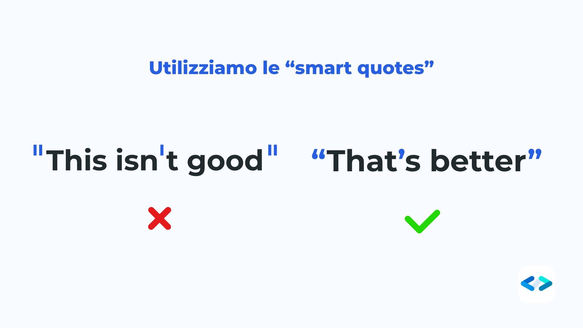 tipografia smart quotes