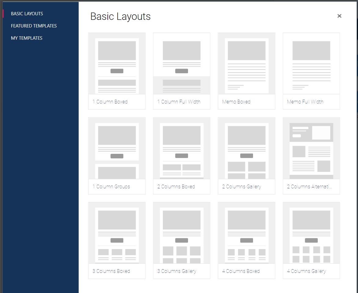 layout siti web
