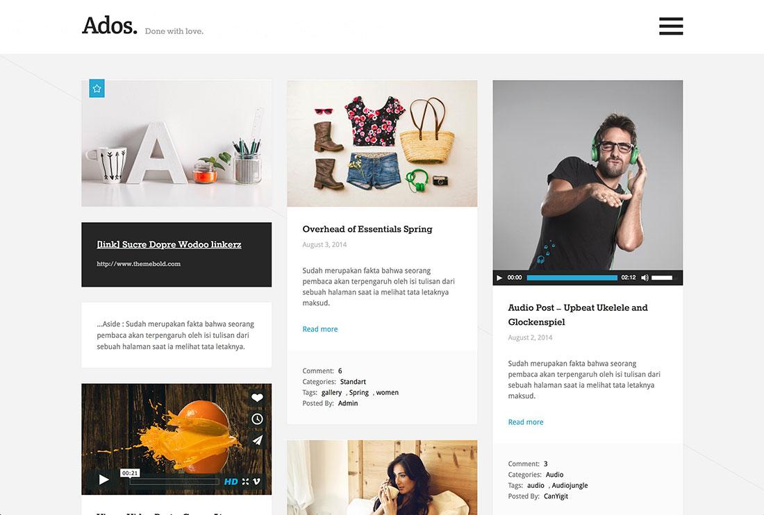 layout siti web - multi colonna