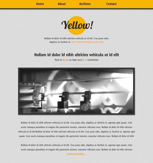 layout siti web - singola colonna