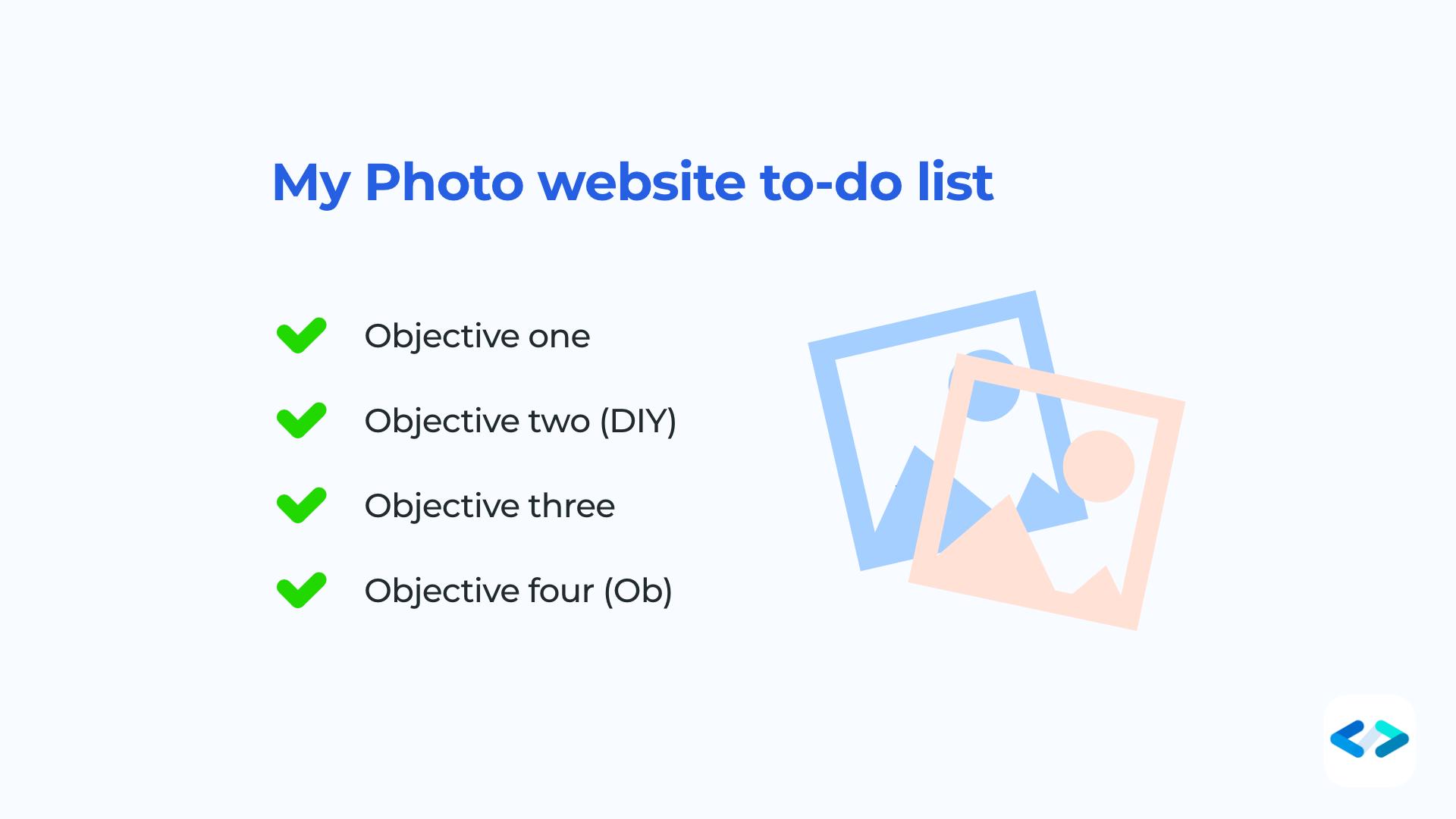 siti per fotografi - to-do list