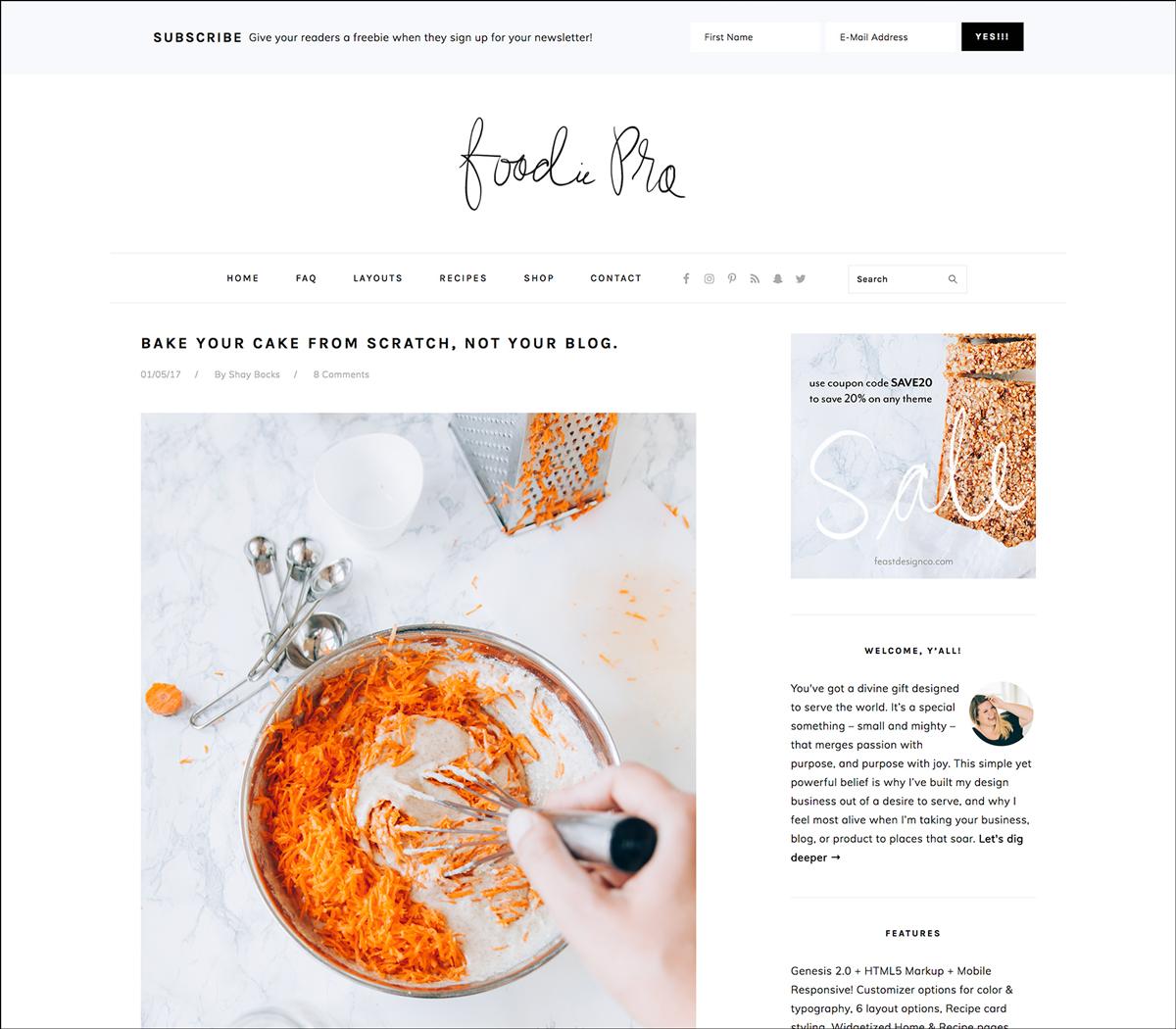 layout siti web - due colonne