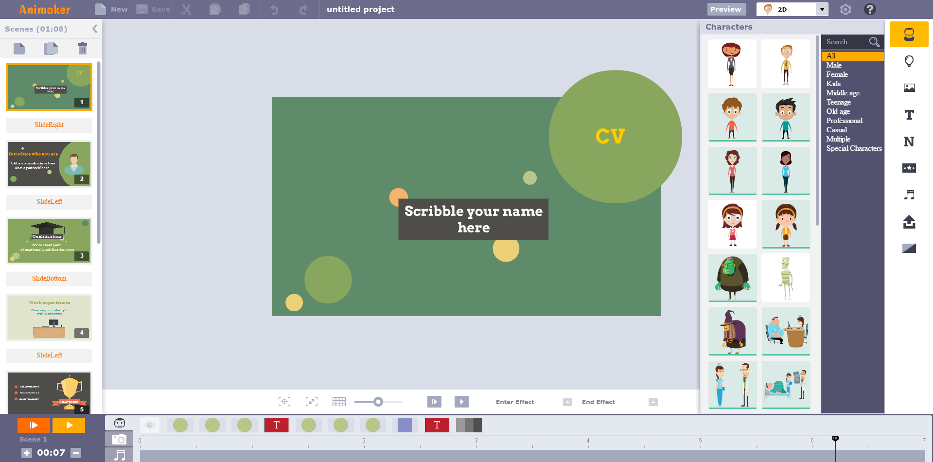 infografiche gratis con animaker