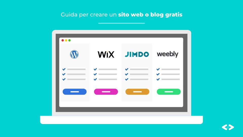 modi per realizzare un sito web o blog gratuitamente