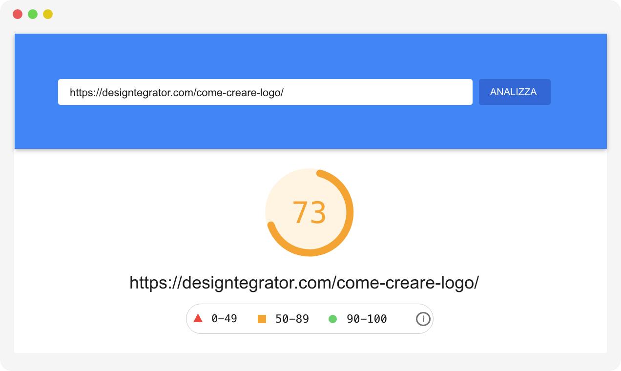w3tc pagespeed risultati desktop