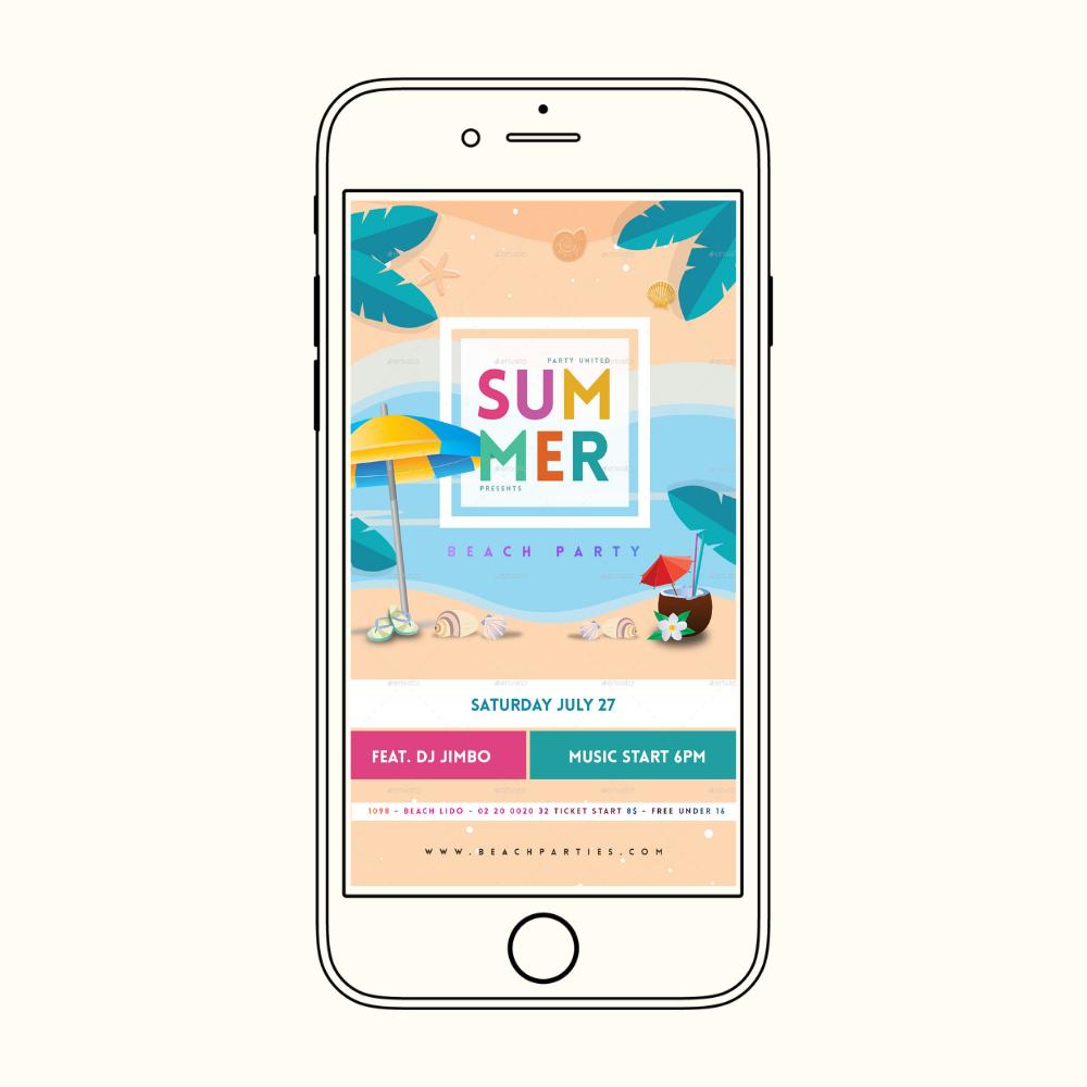 Summer flyer instagram story