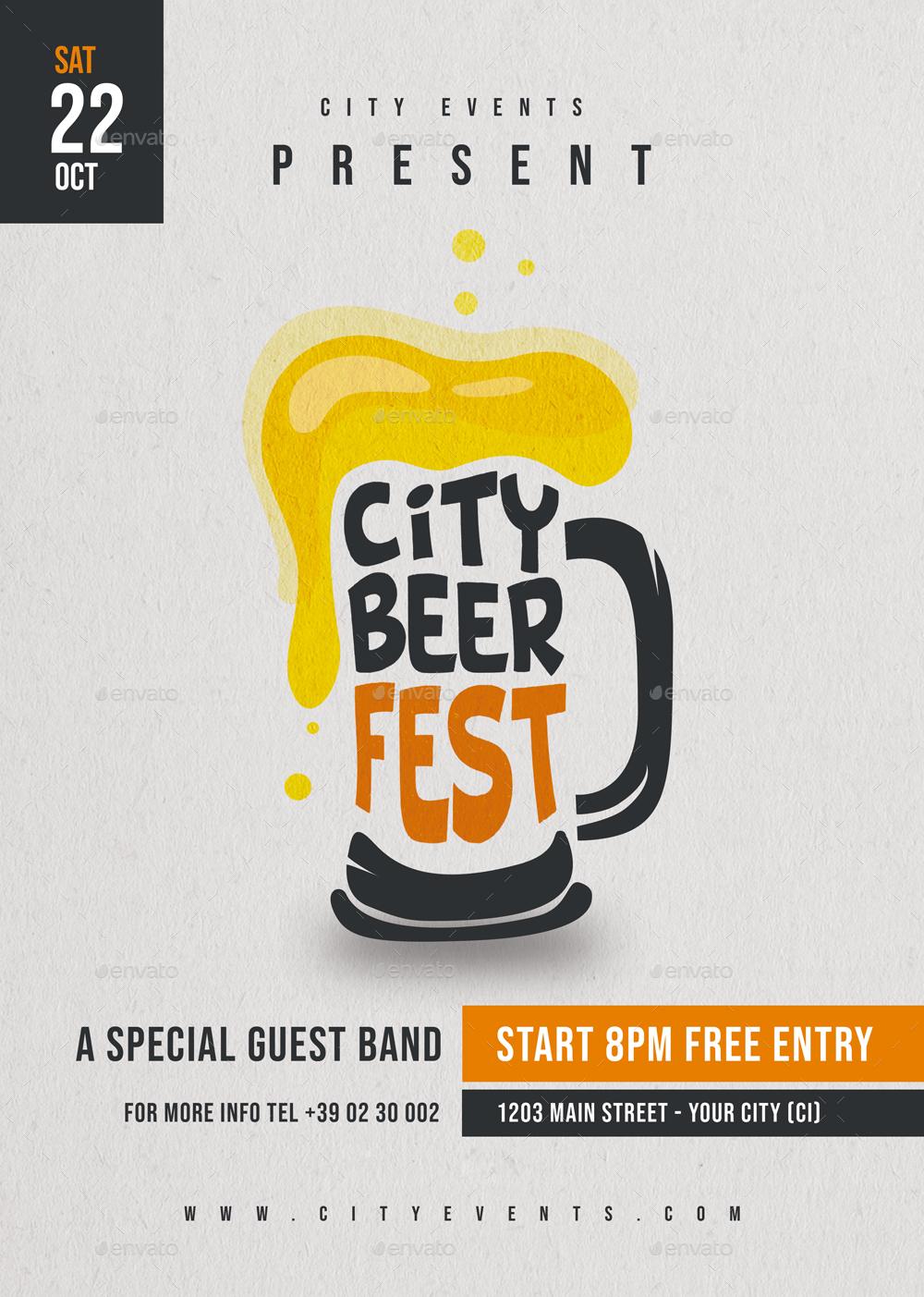 Beer fest flyer volantino