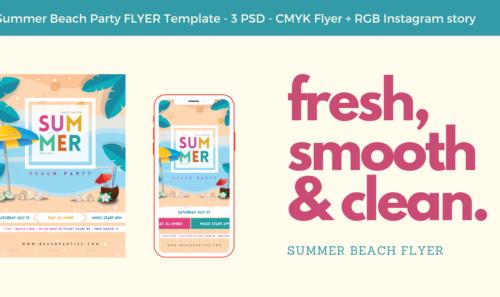 Summer Flyer – il nuovo volantino con concept estivo creato per GraphicRiver