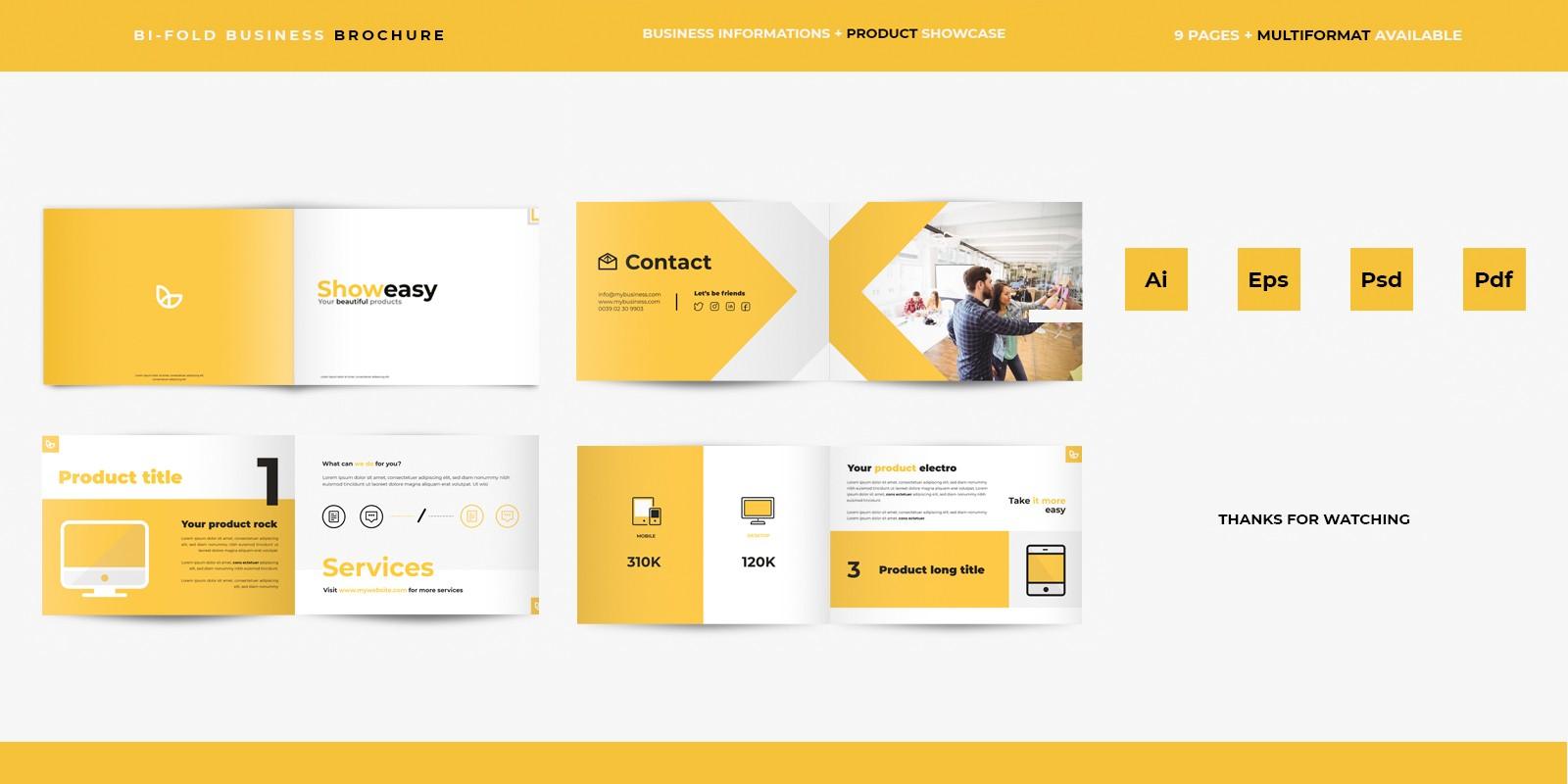 Brochure showcase illustrator Photoshop